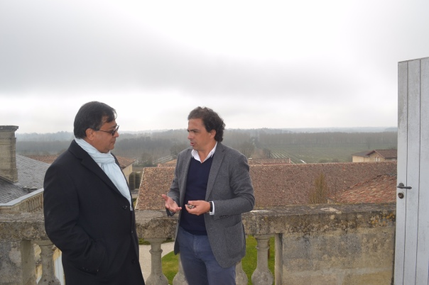 Rajiv Kehr with David Launay at Chateau Gruaud Larose