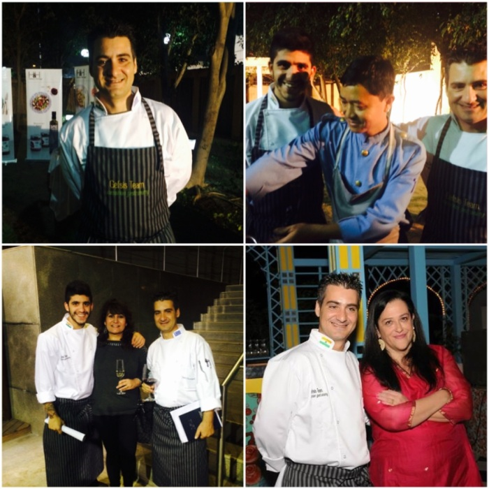 Chef Paris Kostopoulos, Chef Petros Vrionis & Akiki Koutsomitopoulou of the Greek Embassy