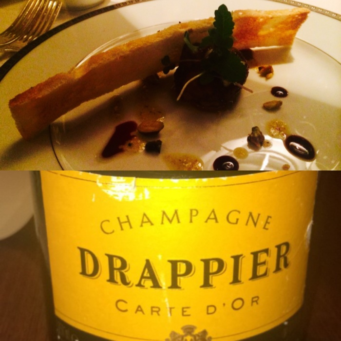 Terrine de Foie Gras paired with Drappier Cart d'Or Brut