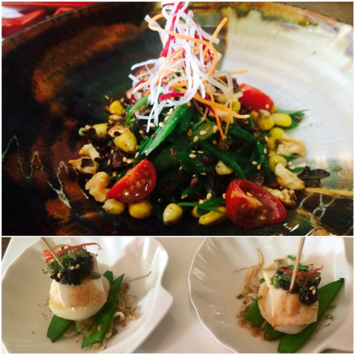 Snow Peas Bean Corn Kernel Kikurage Mushroom Salad : Tofu & Water Chestnut