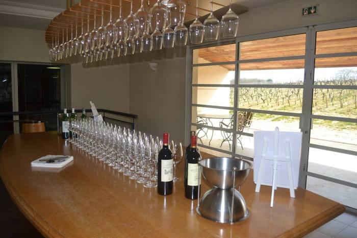 Tasting room at Chateau Malartic Lagraviere Photo Courtesy Rajiv Kehr