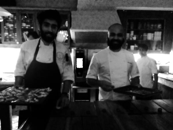 Chef Sujan S with Chef Achintya