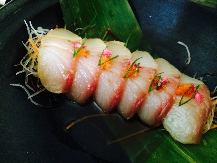Cold Smoked Kampachi Sashimi