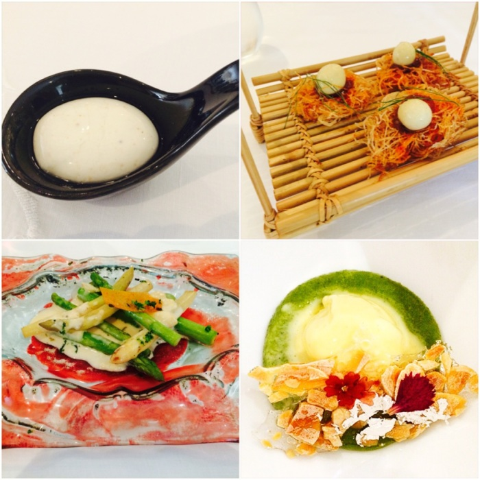 Signature dishes which India's most renowned Chef Gaggan Anand presented at the pop-up at ITC Maurya
