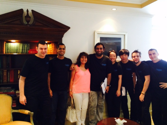 With the entire team of Gaggan