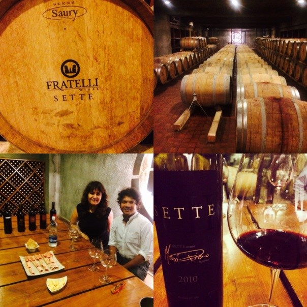 SETTE tasting at the cellar of Fratelli Wines at Akluj