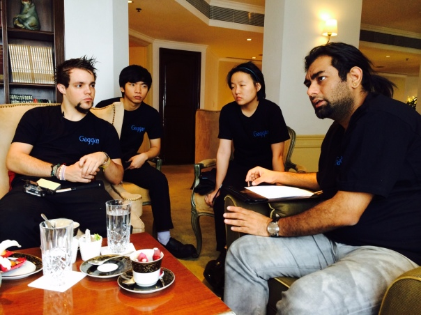 Gaggan Anand brainstorming with his team