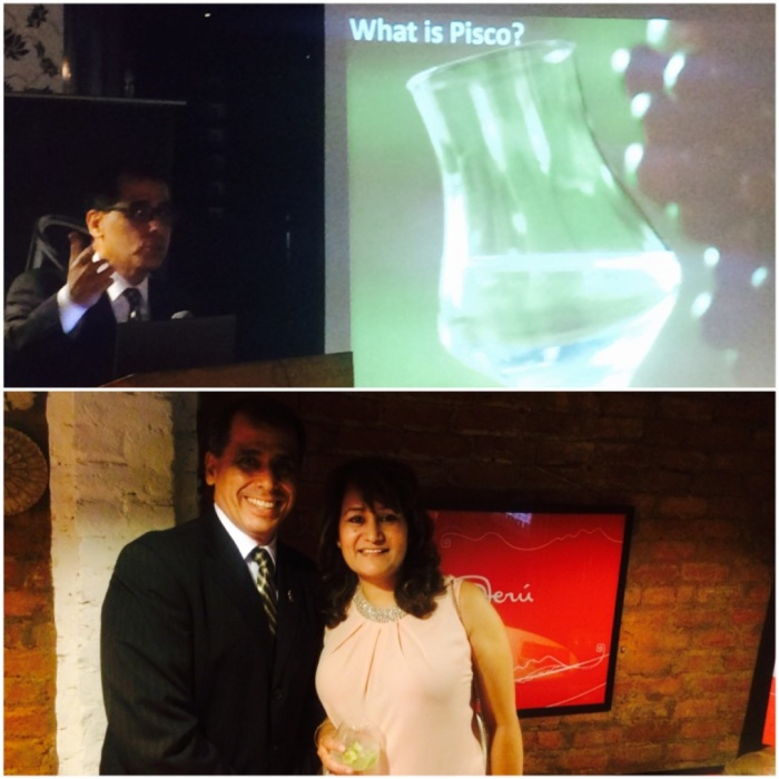 Luis M Cabello, Economic & Commercial Counsellor Embassy of Peru talking about Pisco, the national drink of Peru