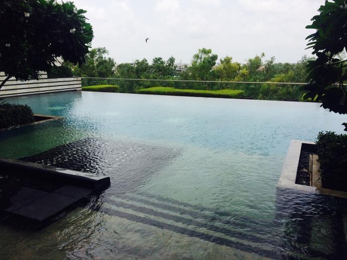Infinity Pool at Kempinski Ambience Hotel Delhi