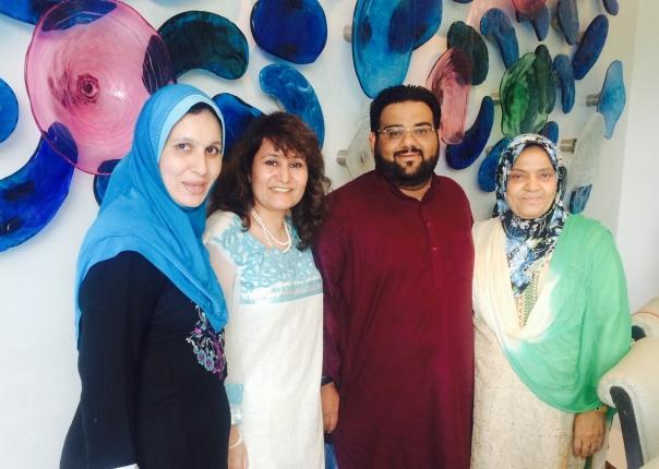 With Osama Jalali, his mother Nazish and wife Nazia