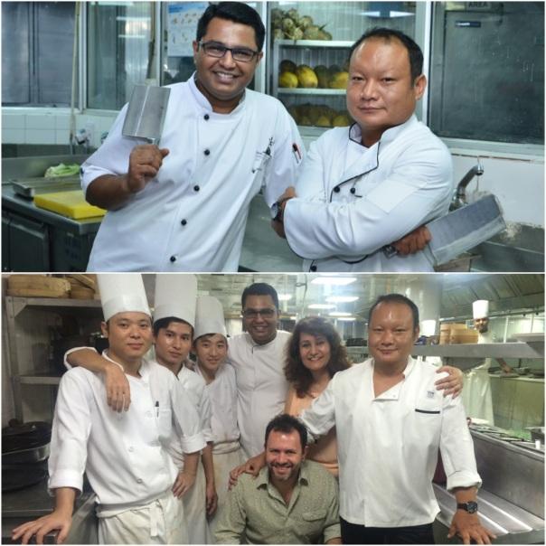 Big B's Bawmra & Basu ; With Team Bomras Bawmra Jap, Chris Downer & Chef Abhishek Basu of Park