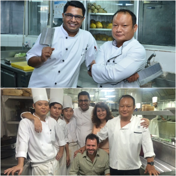 Big B's Bawmra & Basu ; With Team Bomras Bawmra Jap, Chris Downer & Chef Abhishek Basu of Park