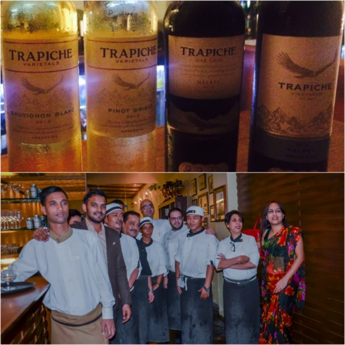 Prarrthona Pal Chowdhury of Sula Selections with team Tres at the Trapiche Wine Dinner