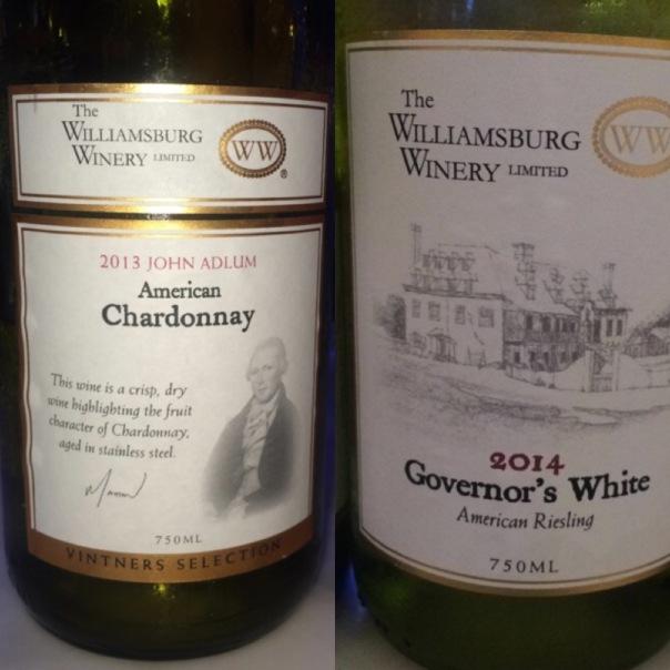 Wines from Williamsburg Winery Virginia USA