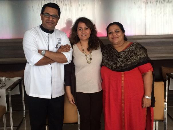 With Begum Abida Rasheed & Chef Abhishek Basu of The Park
