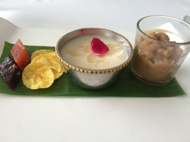 Dessert Tasting Platter: Halwa , Elaneer payasam & Chakra Choru