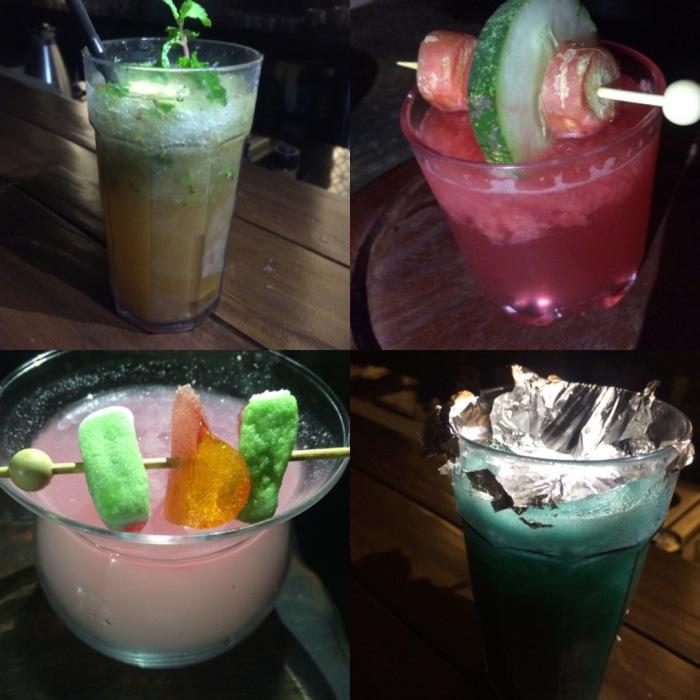 Achari Mojito ; Lakdi Ka Tarbooz ; Bubblegum Cocktail & Icicle