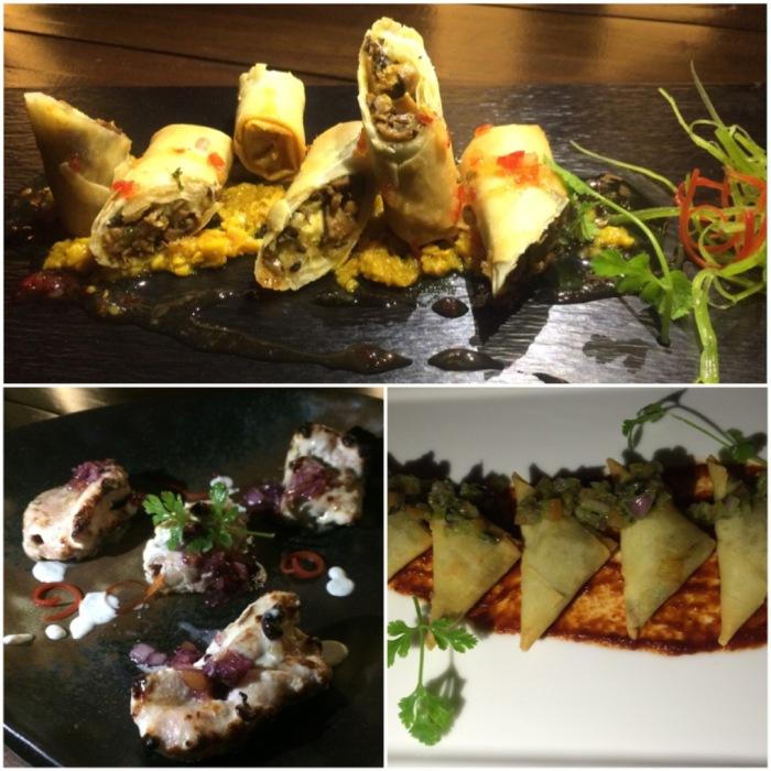 Wild Mushroom Kurkuri ; Blue Cheese Malai Tikka ; Sundried Tomato & Olive Samosa