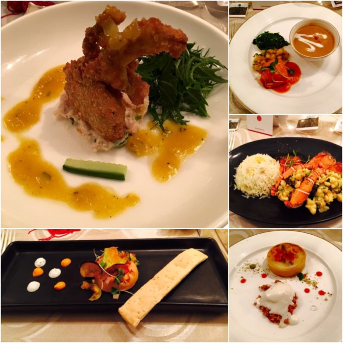 Dishes like Alaskan Crab Salad, Chicken Tikka Terrine, Corinder & Ginger stir-fried Lobster, Murg Korma, Sous vide paneer with makhani glaze & Pear tart with Goat Cheese Gelato. Photos courtesy Nicolas Bachmann