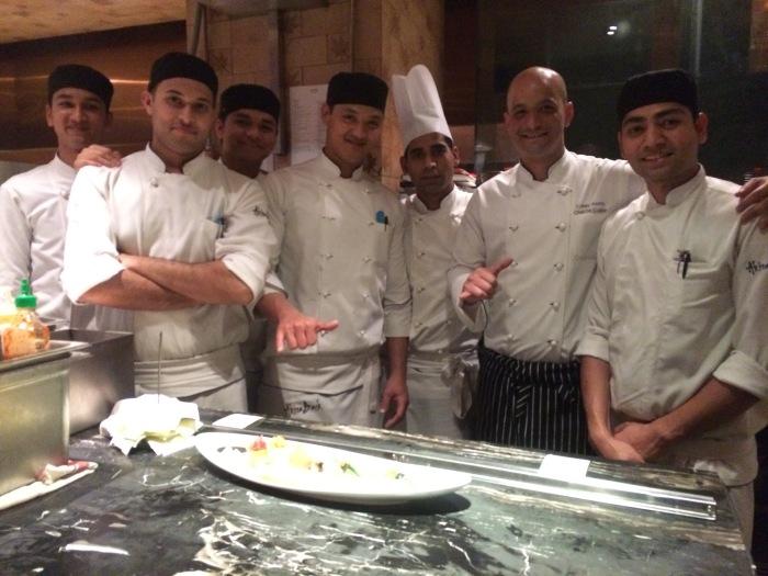 Chef Corey E. Asato with his team at Akira Back