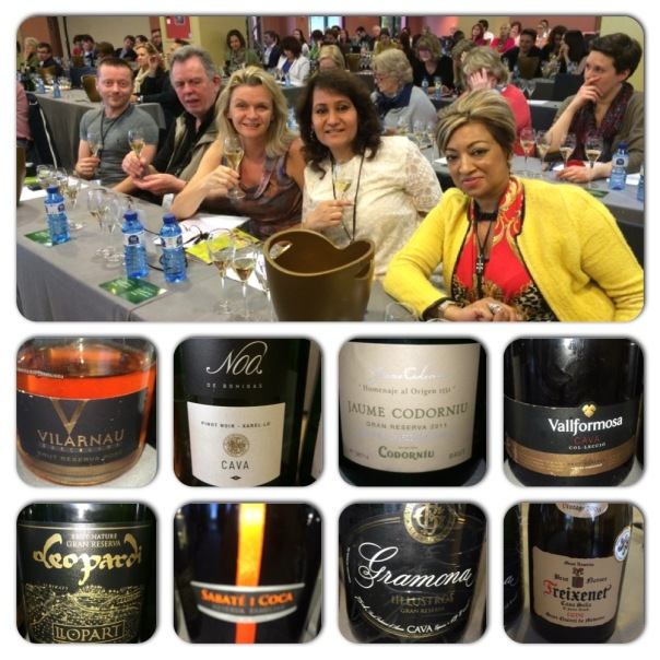 Official IWINETC Grand Cava Tasting at Hotel Barcelona Golf Resort & Spa. In the photograph from from left to right Christopher Walkey of Glass of Bubbly, Hugh Jordan, Sorcha Holloway of Away With Wine, Lavina Kharkwal of High On Wines & Yegas Naidoo.