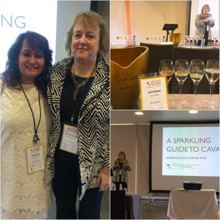 "With Sarah Jane Evans MW attending her talk "" A Sparkling Guide to Cava"" & Official IWINETC Grand Cava Tasting"