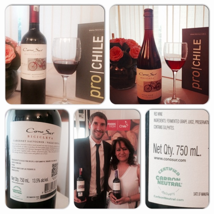 Enjoying Cono Sur Wines at Embassy of Chile New Delhi with Jose Tomas Gillet, Export Manager Asia Cono Sur