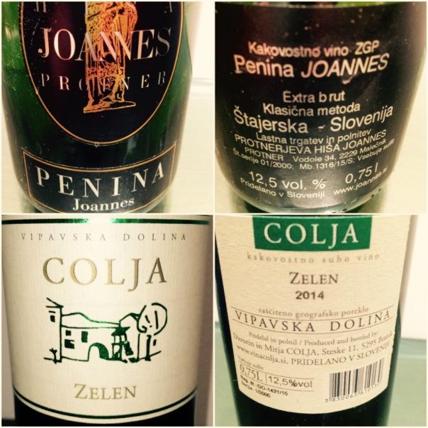 Joannes Protner Penina (Sparkling) & Colja Zelen (Dry White Wine) from Slovenia