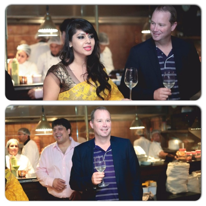 "Madame La Cave Madulika Bhattacharya Dhall, David Andrews of Ste Michelle Wine Estates, Sumit Gulati & Chiquita Gulati at the ""Un-Wined"" Dinner at Gulati Spice Market. Photos courtesy Sumit Gulati"