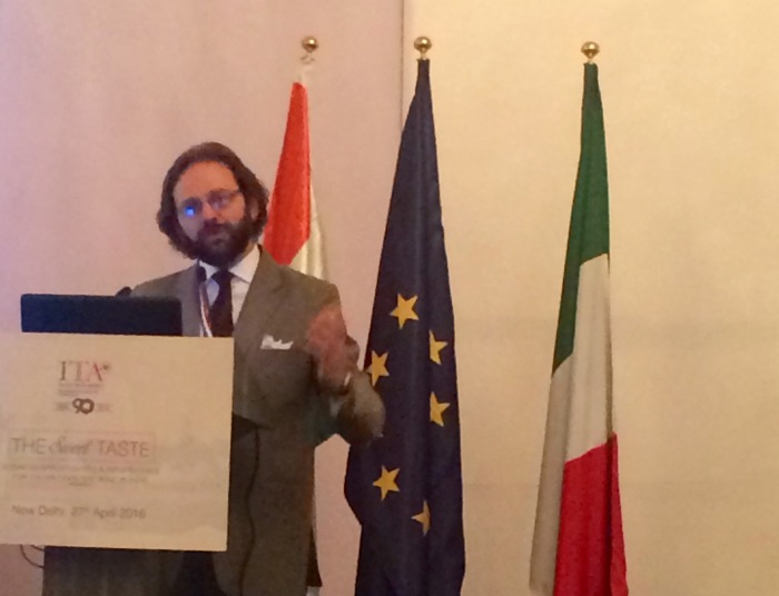 Francesco Pensabene, Italian Trade Commissioner & Director of the Trade Promotion Office of the Italian Embassy speaking at The Sweet Taste