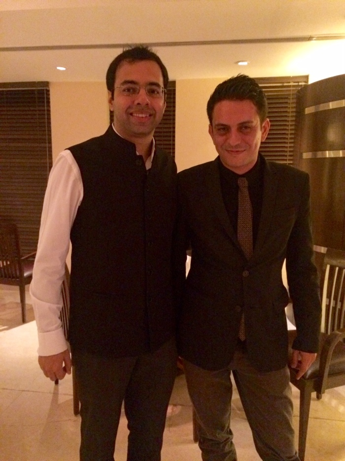 Ravi Gurnani, Director York Winery with Charles Donnadieu, Corporate Sommelier Lalit Group of Hotels