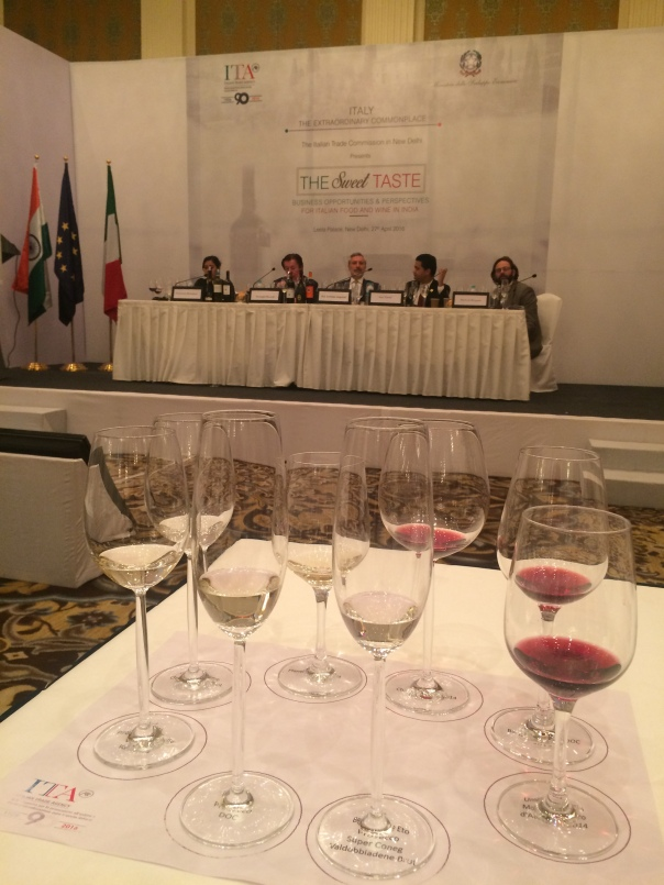 Wine Tasting Session conducted by President of Italian Wine Committee, Giuseppe Martelli, and Indian Champion Sommelier, Atul Tiwari