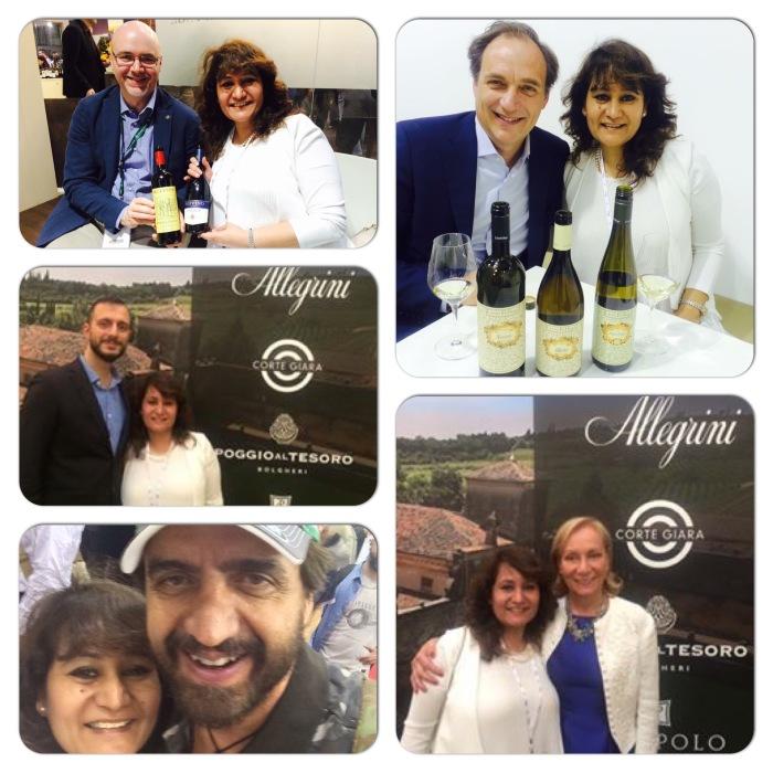 With Marilisa Allegrini & Andrea Bottarel pf Allegrini ; Andrea Felluga of Livio Felluga; Gabriele Tacconi Chief Wine Maker of Ruffino and Valerio Staffelli of Striscia La Notizia