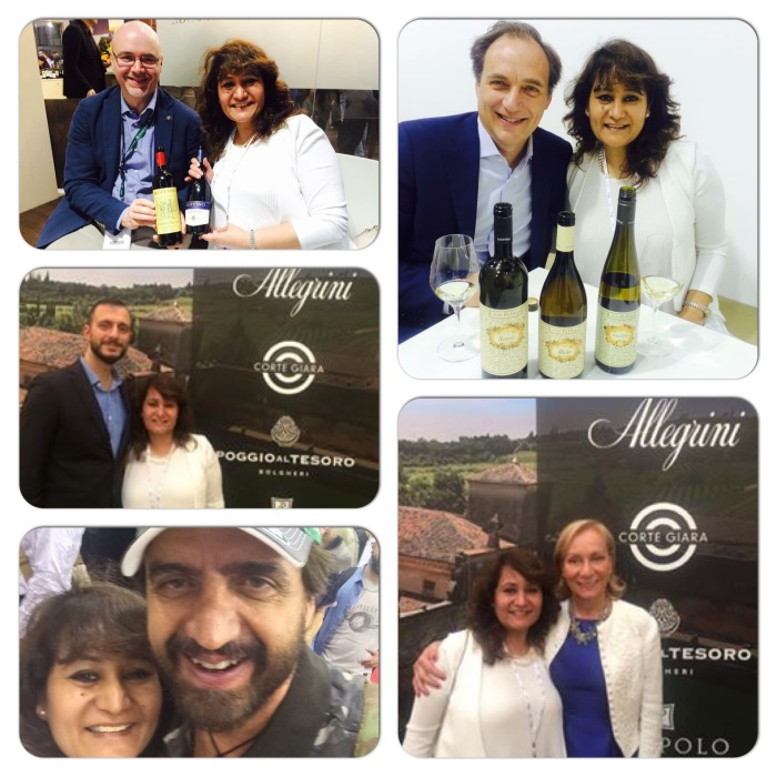 With Marilisa Allegrini & Andrea Bottarel pf Allegrini ; Andrea Felluga of Livio Felluga; Gabriele Tacconi Chief Wine Maker of Ruffino and Valerio Staffelli of Striscia La Notizia