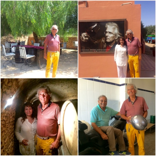 With Charles Melia, founder of Domaine du Val d'Argan & my father Dr Ishwar Singh at Val D'Argan
