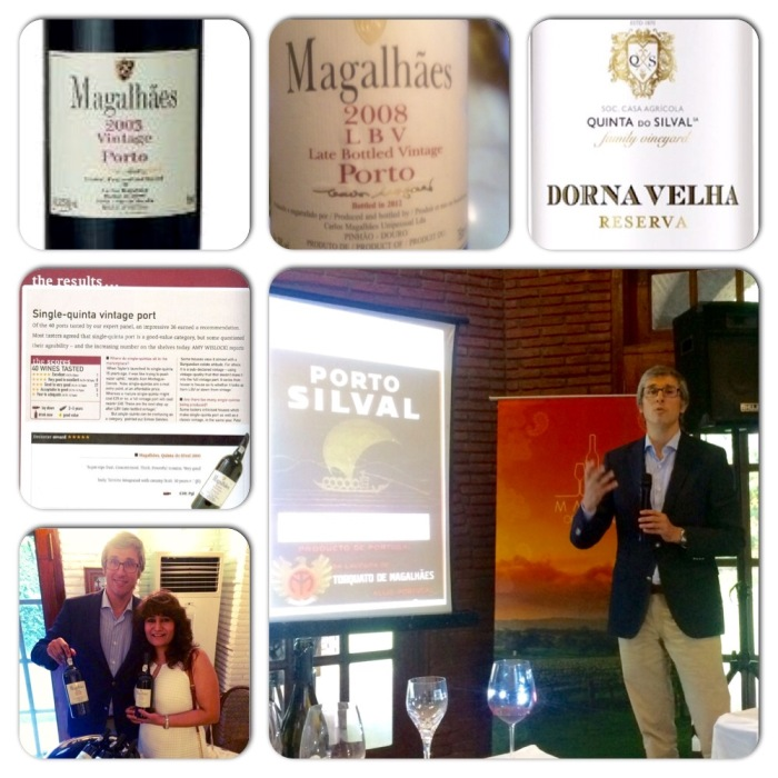 Alexandre Magalhaes of Quinta do Silvas with his much acclaimed wines.