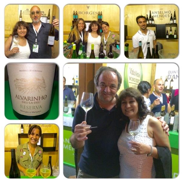 At the Vinho Verde Wine Fest in Porto with Anselmo Mendes