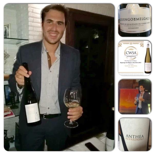 Mario Fernandes of Reguengo de Melgaco at the residence of Portuguese Ambassador in New Delhi showcasing his wines.