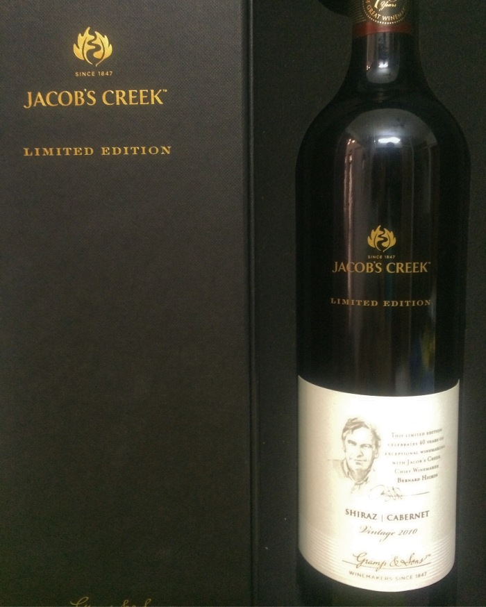 "My bottle of Jacob's Creek ""Limited Edition Shiraz Cabernet 2010"