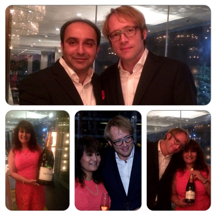Clovis Taittinger, Deputy Managing Director Champagne Taittinger on his maiden visit to India with Sumit Sehgal of Prestige Wines & Spirits and Lavina Kharkwal