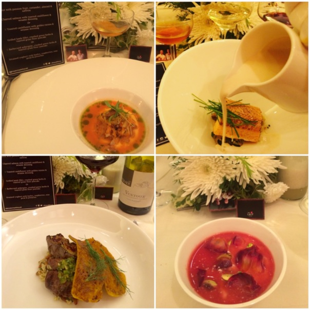 Four well-crafted dishes presented by Chef Ollie of London's Michelin Star restaurant Dabbous.