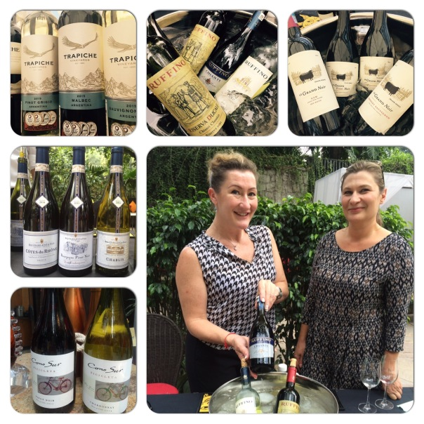 Wines from across the world. In the picture Emma Hammonds and Ann-Marie Battista Sharp from Accolade Wines.