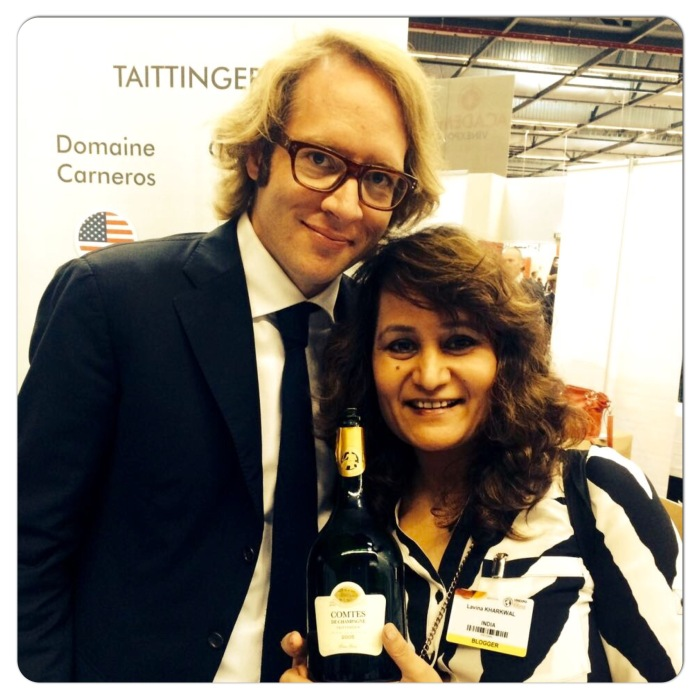 With Clovis Taittinger during Vinexpo Bordeaux 2015
