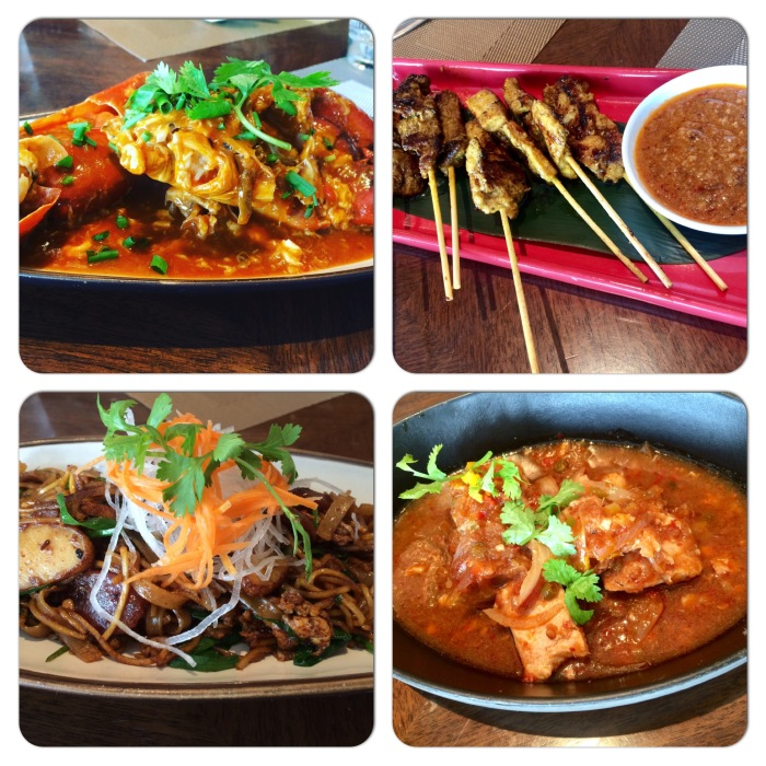 Singapore Chilli Crab, Chicken Satay, Char Kuey Teow & Fish Curry at Spectra Leela Ambience Gurgaon