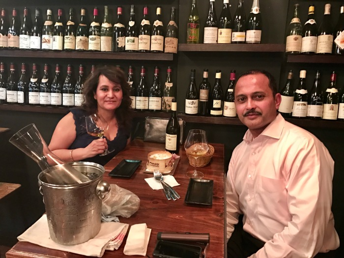 With Gordon Rodrigues at Le Quinze Vins in Wan Chai Hong Kong enjoying a cult Chenin Blanc from Loire Valley