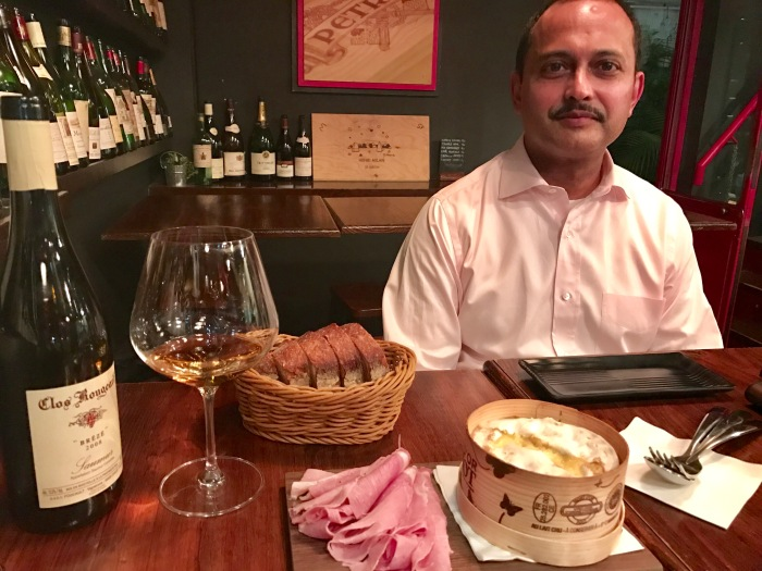 Gordon Rodrigues, a Hong Kong based banker who introduced me to a cult wine from Loire Valley.