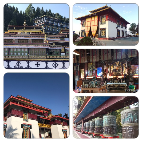 Clockwise from top left Rumtek, Tsuklakhang Royal Chapel & Enchey Monastery