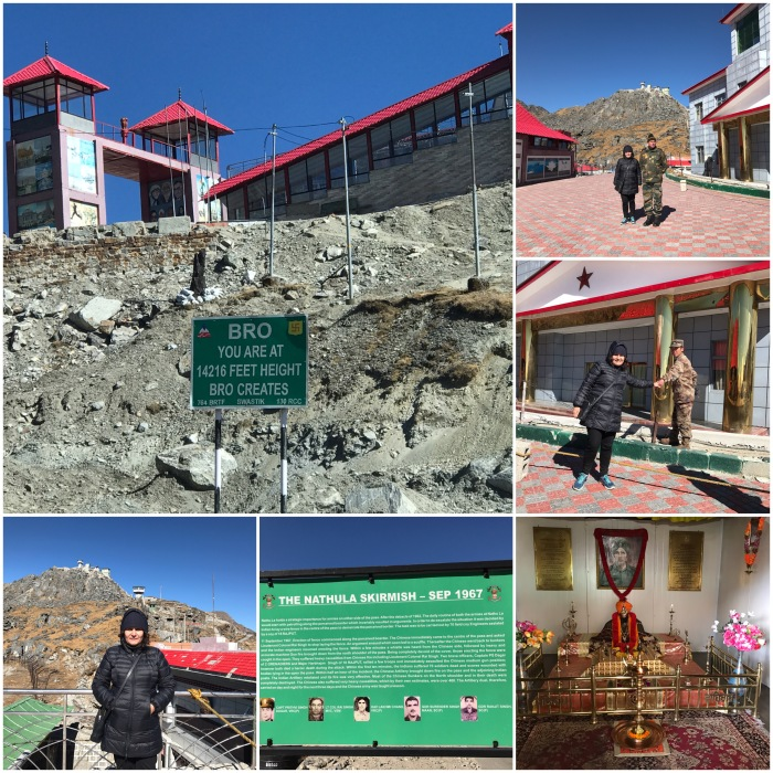 Nathu La India's border post with China's Tibet Autonomous Region and Baba Mandir