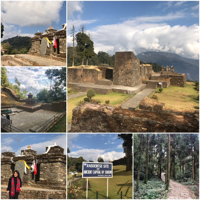 Rabdentse Ruins, on the south east side of Pemayangtse Monastery. Rabdentse was the second capital of of the former kingdom of Sikkim from 1670 to 1814.