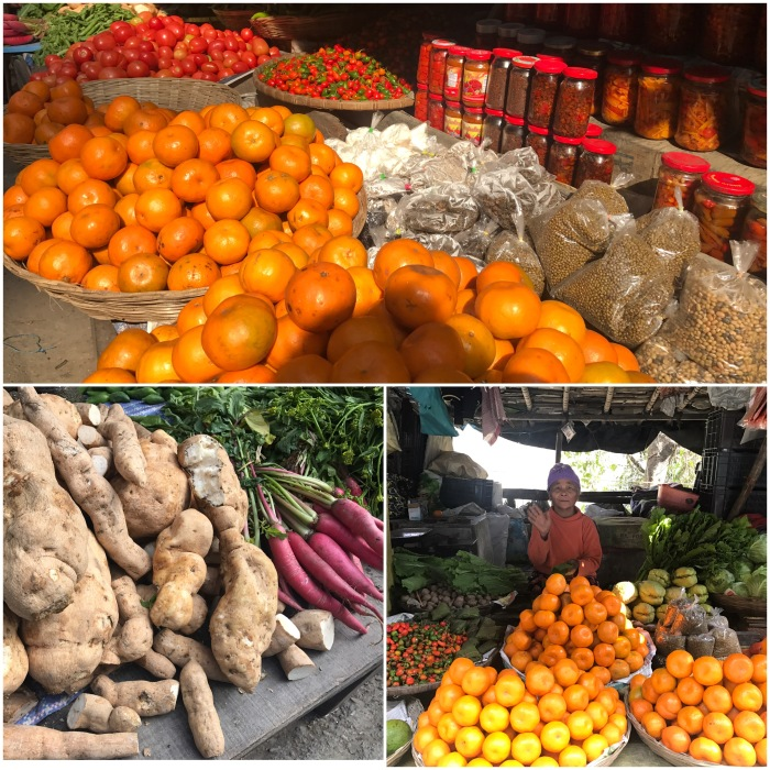 Oranges, Dalle Khursani (round chilli) & Vegetables, all grown organically, available along highways throughout Sikkim